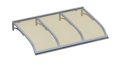 Pensilina Vela Alluminio Bronzo in Alluminio AMA Protezioni Solari