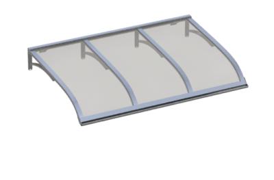 Pensilina Vela Alluminio Grigio in Alluminio AMA Protezioni Solari