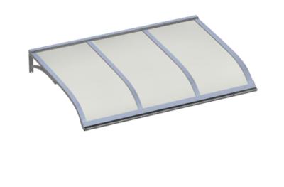 Pensilina Vela Alluminio Opalino in Alluminio AMA Protezioni Solari