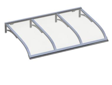Pensilina Vela Alluminio Trasparente in Alluminio AMA Protezioni Solari