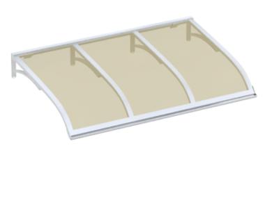 Pensilina Vela Bianco Bronzo in Alluminio AMA Protezioni Solari