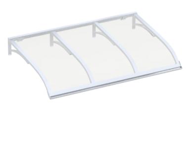 Pensilina Vela Bianco Trasparente in Alluminio AMA Protezioni Solari