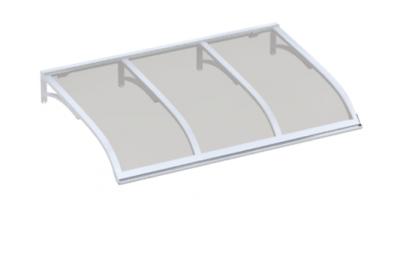 Pensilina Vela Bianco Grigio in Alluminio AMA Protezioni Solari