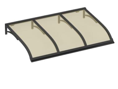Pensilina Vela Grigio Bronzo in Alluminio AMA Protezioni Solari