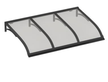 Pensilina Vela Grigio Grigio in Alluminio AMA Protezioni Solari