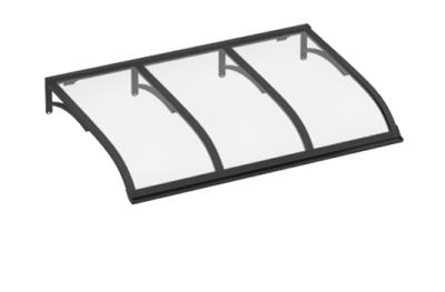 Pensilina Vela Grigio Trasparente in Alluminio AMA Protezioni Solari