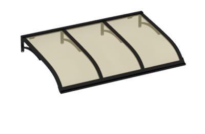 Pensilina Vela Nero Bronzo in Alluminio AMA Protezioni Solari