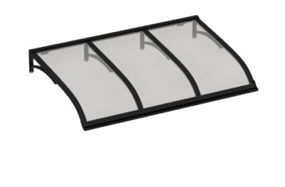 Pensilina Vela Nero Grigio in Alluminio AMA Protezioni Solari