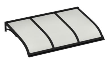 Pensilina Vela Nero Opalino in Alluminio AMA Protezioni Solari