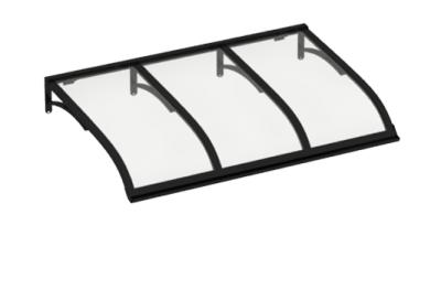 Pensilina Vela Nero Trasparente in Alluminio AMA Protezioni Solari