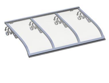 Pensilina Vela Old Alluminio Trasparente in Alluminio AMA Protezioni Solari