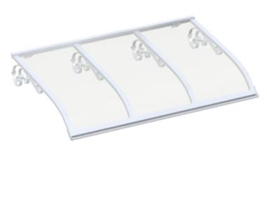 Pensilina Vela Old Bianco Trasparente in Alluminio AMA Protezioni Solari