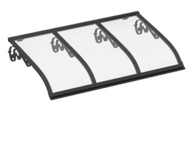 Pensilina Vela Old Grigio Trasparente in Alluminio AMA Protezioni Solari
