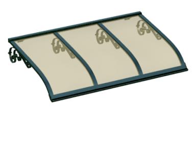 Pensilina Vela Old Verde Bronzo in Alluminio AMA Protezioni Solari