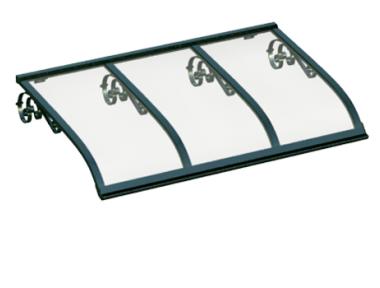Pensilina Vela Old Verde Trasparente in Alluminio AMA Protezioni Solari