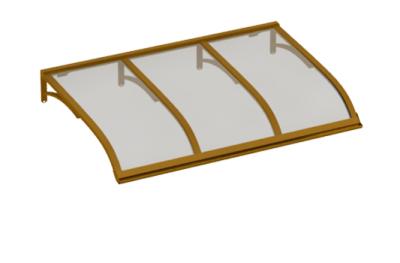 Pensilina Vela Rame Grigio in Alluminio AMA Protezioni Solari