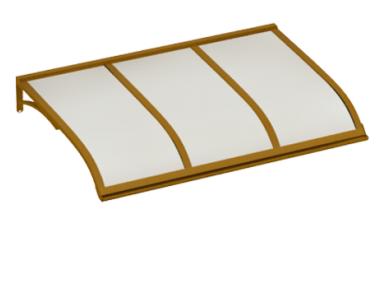 Pensilina Vela Rame Opalino in Alluminio AMA Protezioni Solari