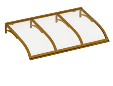 Pensilina Vela Rame Trasparente in Alluminio AMA Protezioni Solari