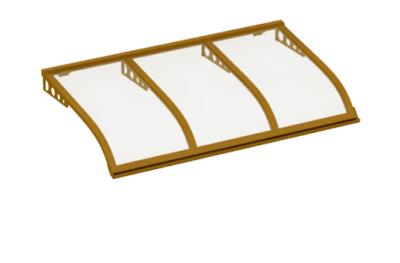 Pensilina Vela Style Attacco a Parete Rame Trasparente in Alluminio AMA