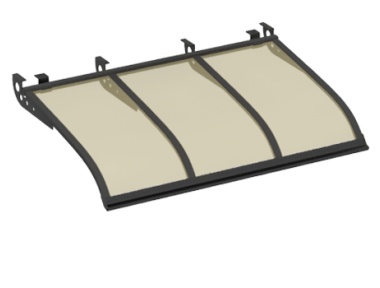 Pensilina Vela Style Attacco a Soffitto Grigio Bronzo in Alluminio AMA