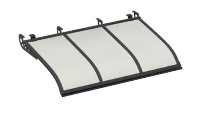 Pensilina Vela Style Attacco a Soffitto Grigio Opalino in Alluminio AMA