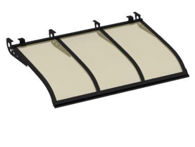 Pensilina Vela Style Attacco a Soffitto Nero Bronzo in Alluminio AMA