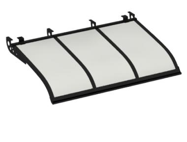 Pensilina Vela Style Attacco a Soffitto Nero Opalino in Alluminio AMA