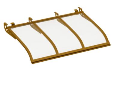 Pensilina Vela Style Attacco a Soffitto Rame Trasparente in Alluminio AMA