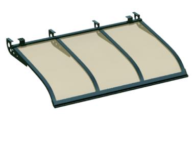 Pensilina Vela Style Attacco a Soffitto Verde Bronzo in Alluminio AMA