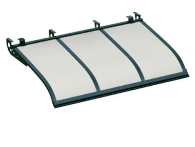 Pensilina Vela Style Attacco a Soffitto Verde Opalino in Alluminio AMA