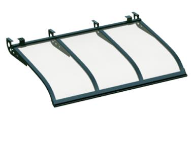 Pensilina Vela Style Attacco a Soffitto Verde Trasparente in Alluminio AMA