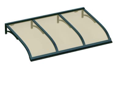 Pensilina Vela Verde Bronzo in Alluminio AMA Protezioni Solari