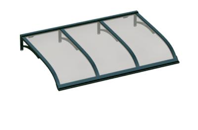 Pensilina Vela Verde Grigio in Alluminio AMA Protezioni Solari