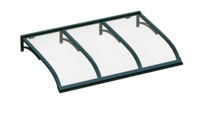 Pensilina Vela Verde Trasparente in Alluminio AMA Protezioni Solari