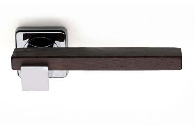 Plus Line Wenghe Wood Maniglia su Rosetta Quadrata Fashion PFS Pasini