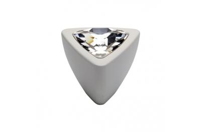 Pomolo Mobile Linea Calì Crystal COMETA PB BA con Swarowski Bianco Opaco