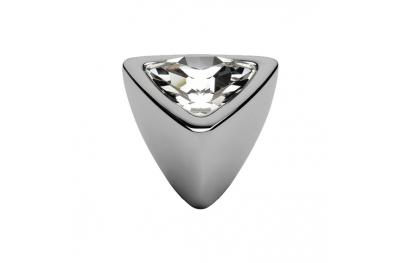 Pomolo Mobile Linea Calì Crystal COMETA PB CR con Swarowski Cromo Lucido
