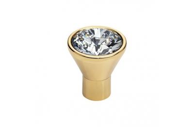 Pomolo Mobile Linea Calì Crystal Diamante OZ con Swarowski® Oro Zecchino