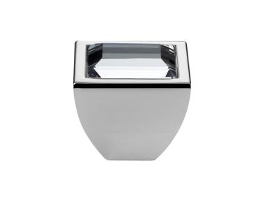 Pomolo Mobile Linea Calì Crystal Elios Crystal PB con Swarowski® Cromo Lucido