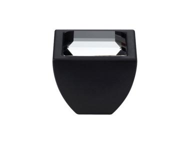 Pomolo Mobile Linea Calì Crystal Elios Crystal PB con Swarowski® Nero Opaco
