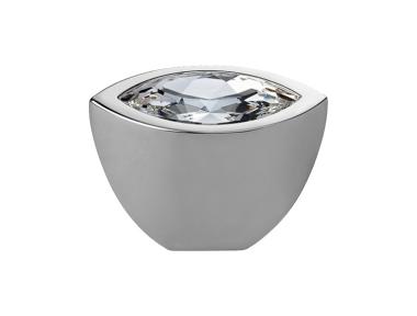 Pomolo Mobile Linea Calì Crystal Elipse Crystal PB con Swarowski® Cromo Lucido