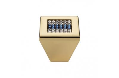 Pomolo Mobile Linea Calì Crystal Mesh Blue PB con Swarowski® Blu Oro Zecchino