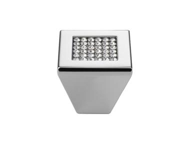 Pomolo Mobile Linea Calì Mesh Crystal PB con Cristalli Swarowski® Cromo Lucido