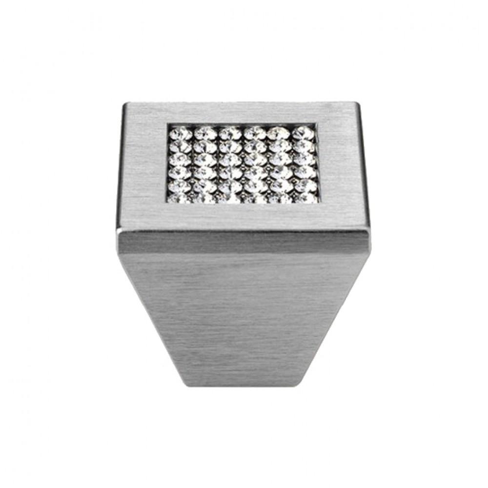 Pomolo Mobile Linea Calì Mesh Crystal PB con Cristalli Swarowski® Cromo Satinato