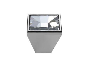 Pomolo Mobile Linea Calì Mirror PB con Cristalli Swarowski® Cromo Lucido