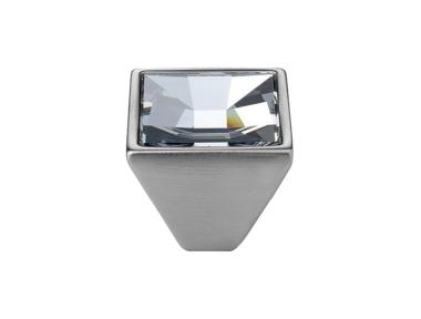 Pomolo Mobile Linea Calì Mirror PB con Cristalli Swarowski® Cromo Satinato