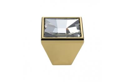 Pomolo Mobile Linea Calì Mirror PB con Cristalli Swarowski® Oro Zecchino
