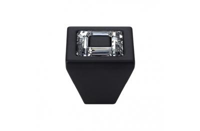 Pomolo Mobile Linea Calì Ring Crystal PB con Cristalli Swarowski® Nero Opaco