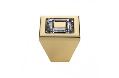 Pomolo Mobile Linea Calì Ring Crystal PB con Cristalli Swarowski® Oro Zecchino