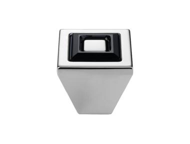 Pomolo Mobile Linea Calì Ring Crystal PB con Nero Swarowski® e Bianco Opaco